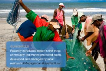 #LeastNotLast - Madagascar has 3 marine protected areas managed by local residents.