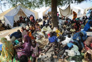 Thousands of people displaced by conflict in Kordofan State. Paul Banks/UNMIS