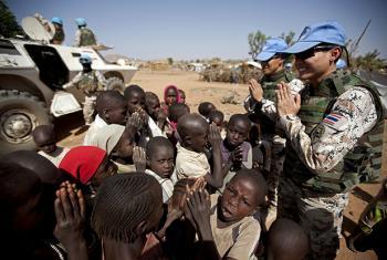 UNAMID Peacekeepers in Darfur.