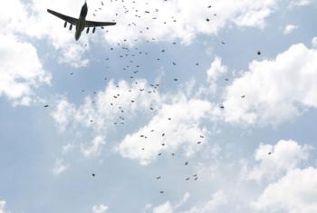 A WFP air drop. File