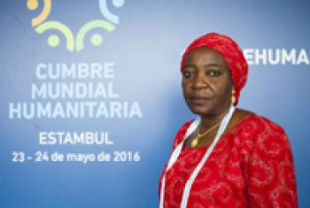 Aishatu Margima at the World Humanitarian Summit.