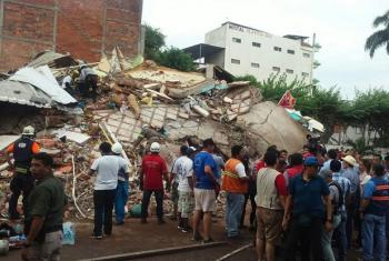 Damage assessment being undertaken following the devastating 7.8 magnitude earthquake that hit the coast of Ecuador on 16 April 2016.
