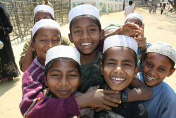 There are 28,000 documented Rohingya refugees in Bangladesh, including these boys at the Kutupalong refugee camp. File