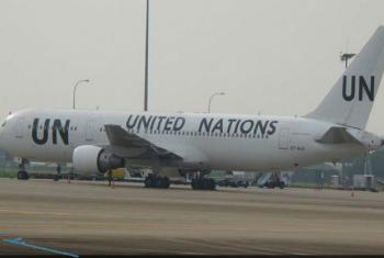 United Nations airplane. File