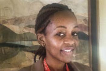 Annah Sango. UN Radio/L. Jarriel