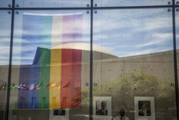 Homage to LGBTI victims of Orlando, Florida attacks, at the US Mission to the United Nations, in New York.