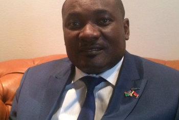 Namibia Minister of Environment and Tourism Pohamba Shifeta on World Environment Day in Angola. UN Radio/Eleuterio Guevane