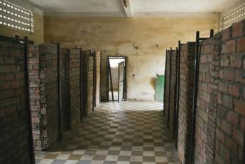 A look inside the Tuol Sleng Genocide Museum in Phnom Penh, Cambodia, the site of the Khmer Rouge's infamous Security Prison S-21 where torture was routinely practiced. UN File Photo/M. Garten