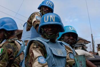 UN peacekeepers in Liberia.
