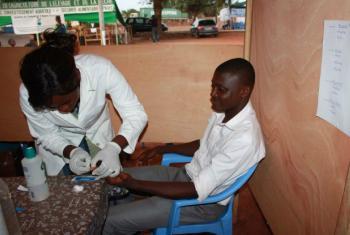 Testing for hepatitis in Togo.