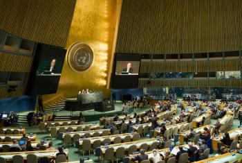 A wide view of the General Assembly. UN File Photo/Rick Bajornas