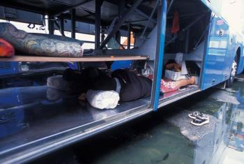 The Mo Chit bus station in Bangkok, Thailand, which is an active hub for human traffickers.
