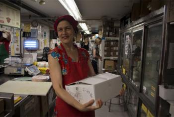 Koren Brigham, a member of the Park Slope Food Cooperative in Brooklyn, New York.