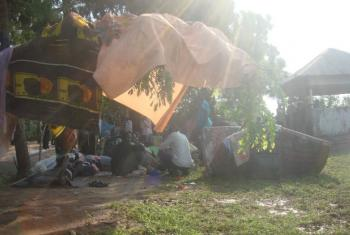 Interned Displaced People in Tomping, South Sudan.
