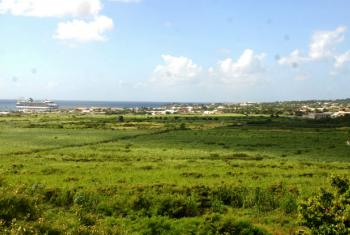 View of the valley towards Basseterre, St. Kitts. File