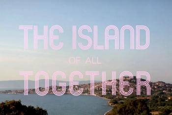 Promotional Image of the film: The Island of All Together - Conversations on Lesvos