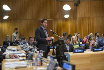 Ahmad Alhendawi, United Nations Secretary-General's Special Envoy on Youth, speaks at ECOSOC Youth Forum on Implementing 2030 Agenda.