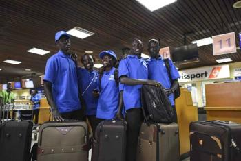 Five South Sudanese refugees who have qualified to compete at the Olympic Games prepare to fly from Kenya to Brazil.