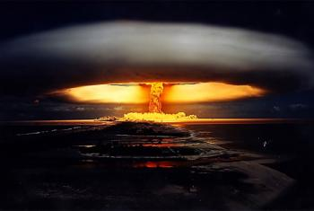 Licorne nuclear test, 1971, French Polynesia.
