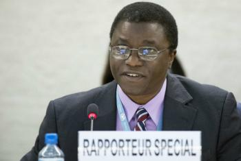 """Chaloka Beyani, UN Special Rapporteur on Internally Displaced Persons, said the situation in north-east Nigeria had """"all the hallmarks of the highest category crises""""."""