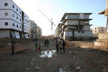 Al-Riad shelter, Aleppo, Syria.