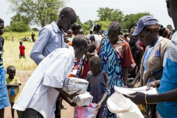 UNICEF and the World Food Programme (WFP) jointly launch an enhanced joint nutrition response plan covering all states in South Sudan (September 2015).