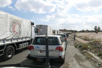 Aid convoy, Syria. File