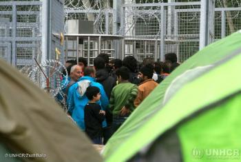"""""""Too many refugees - including children - are forced to stay in detention centres""""."""