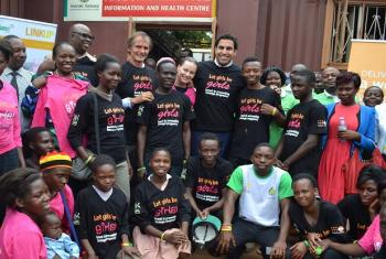 Alhendawi on a trip to Uganda to expedite a policy regarding youth.