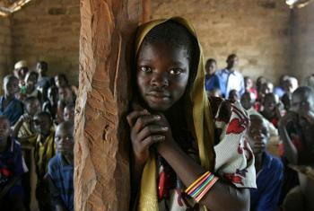 Child in the village of Mélé, Central African Republic. File