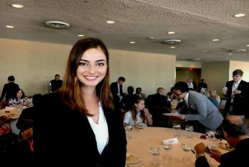 Rachel Anne Lott, one of the 60 young winners of a multilingual essay contest organized by the United Nations and ELS Educational Services Inc.