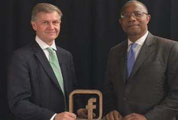 UNEP's Erik Solheim and Ben Malor during a FB live event on the margins of the UN General Assembly debate (Screenshot)