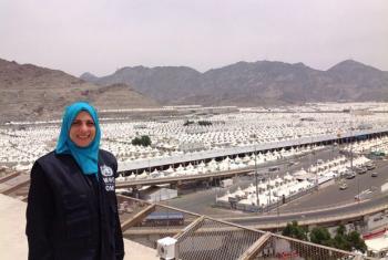 Rana Sidani member of WHO mission in Mina, Saudi Arabia.
