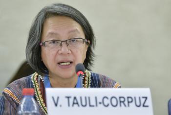 Victoria Tauli-Corpuz.