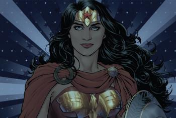 Female superhero Wonder Woman, named by the UN as Honorary Ambassador for the Empowerment of Women and Girls.