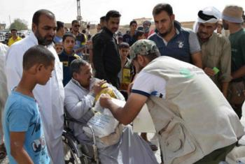 Food assistance for people in and around the northern Iraqi town of Shirqat, 80 kilometres south of Mosul.