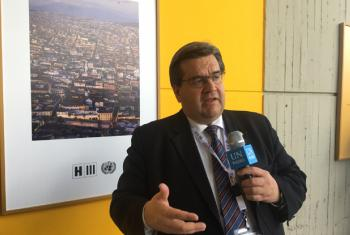 Denis Coderre, the Mayor of Montréal, Canada, is attending the Habitat 3 conference in Quito, Ecuador.