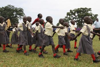 Schoolchildren in Lira, Uganda.