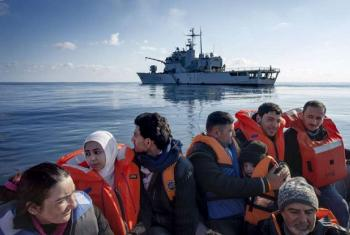 Syrian refugees are rescued in the Mediterranean Sea.