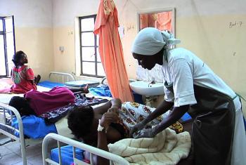 Maternity ward at Juba Teaching Hospital. (Screen grab from UNifeed Video)