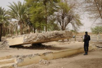 The El Farouk monument in Timbuktu, Mali, destroyed by the extremists.