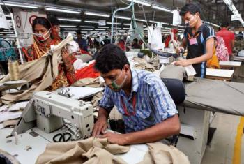 Workers in a Ready-made Garments factory in Bangladesh.