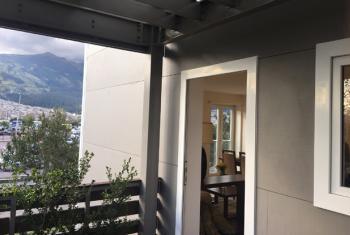 Eco-friendly house.