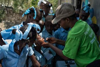 Vaccination campaign against cholera.