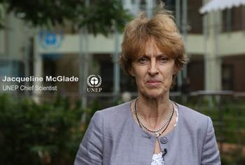 Jacqueline McGlade. (Screen grab from UNEP Video)
