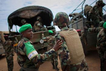 AMISOM troops serving in Somalia.