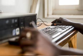 Computer training in South Sudan.