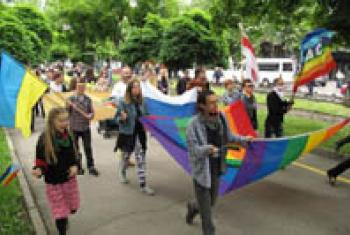 Lesbian, Gay, Bisexual, Transgender and Intersex (LGBTI) pride march.