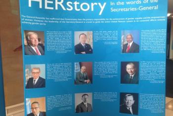 HERstory exhibition showcases women leadership in the UN.