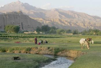 Farmers relax in Afghanistan's Bamyan Valley.